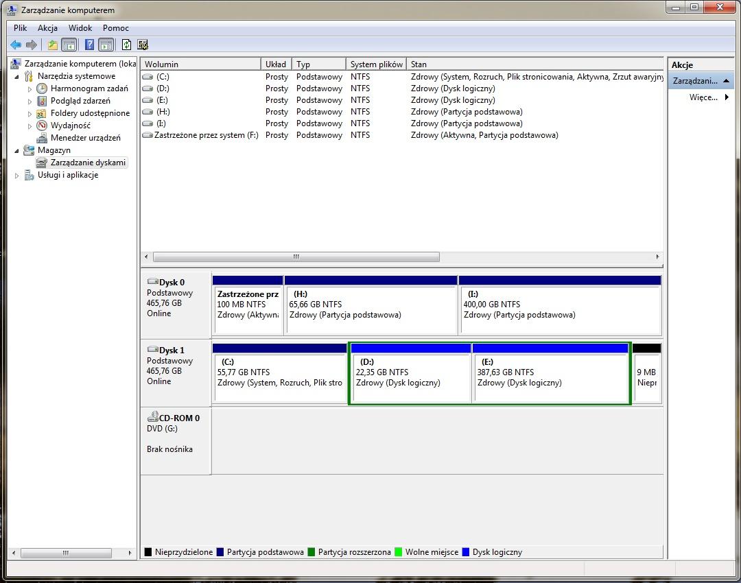 Seagete Momentus 5400 (500gb) po wizycie w serwisie Acera nie dzia�a WIN 7