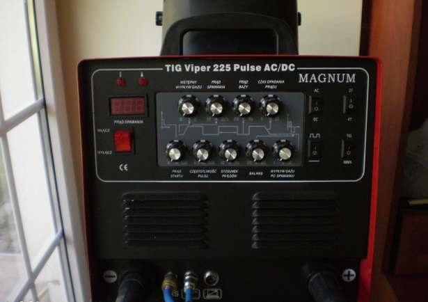 Spawanie aluminium - jak zacz��, TIG AC/DC, Magnum Viper 225