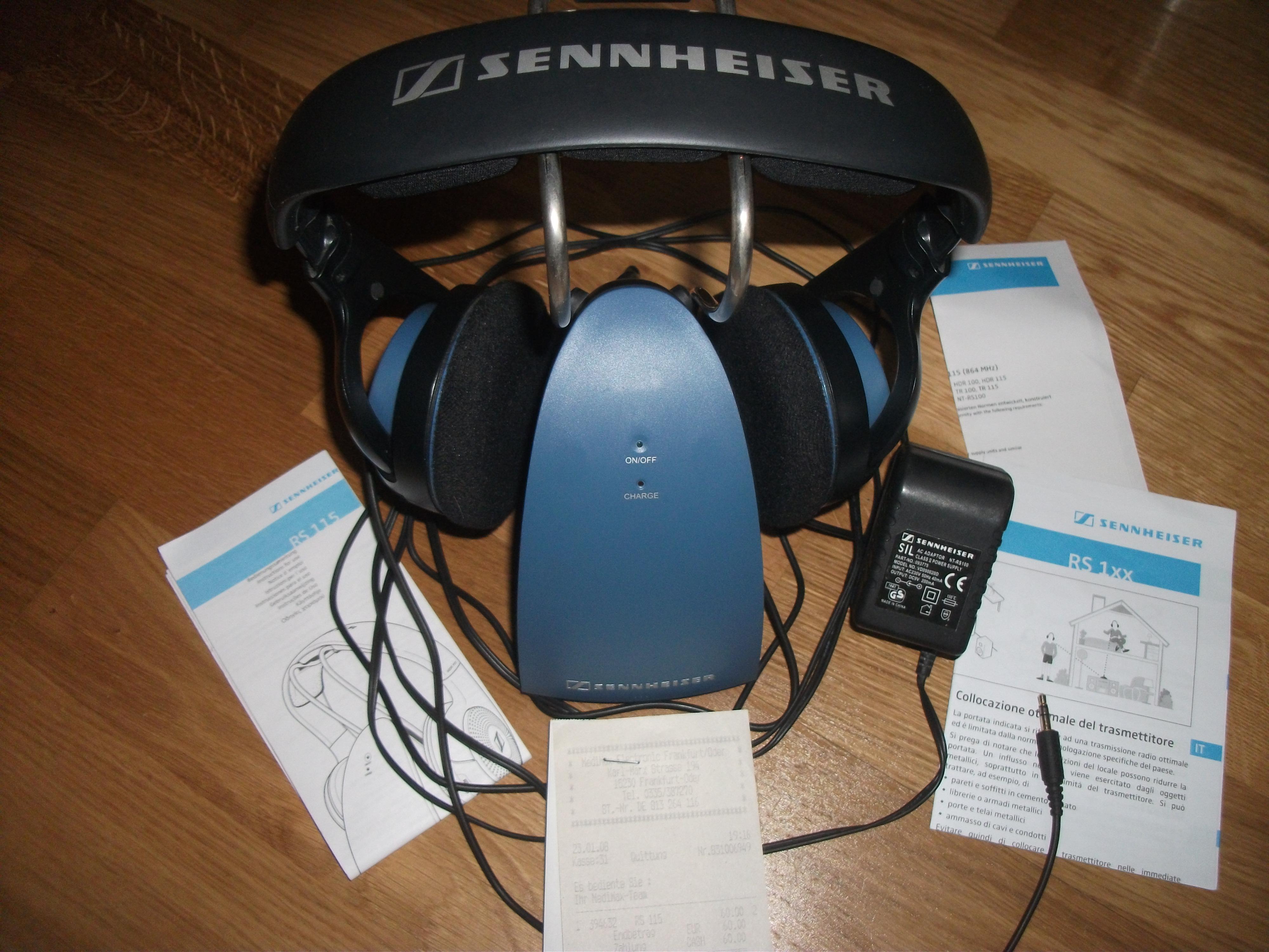 [Sprzedam] S�uchawki BEZPRZEWODOWE Sennheiser HDR 115 RS 115 JAK NOWE-KOMPLET