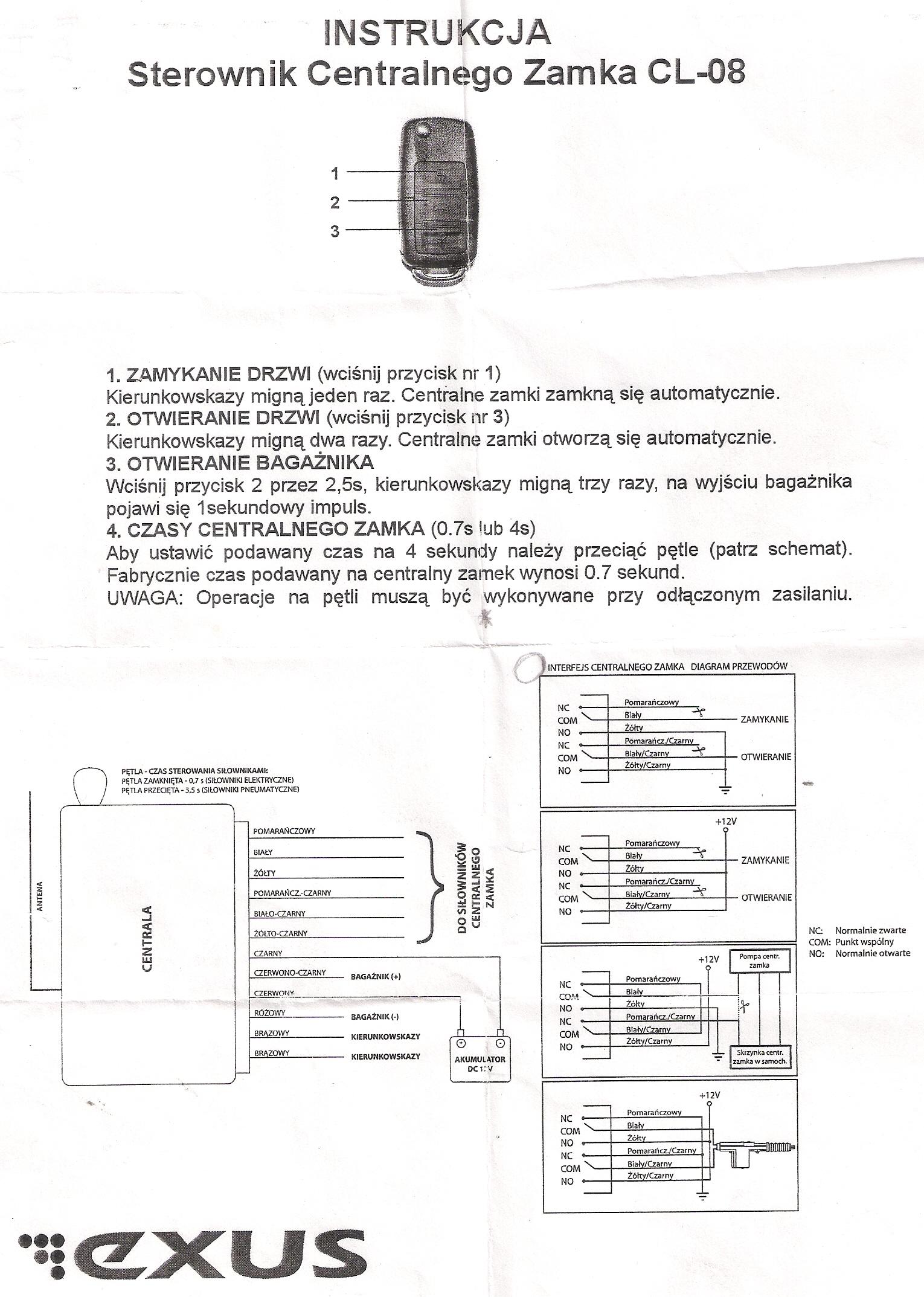 AUDI A4 1.8 20V B5 AVANT '01   -  centralny zamek