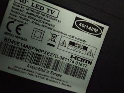Telewizor LED Blaupunkt BD40E148BF - brak obrazu, głos jest, reaguje na pilota