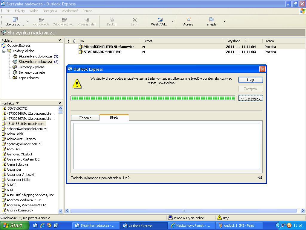 Outlook Express: poczta jest wysy�ana i dostarczana lecz wyst�puje b��d