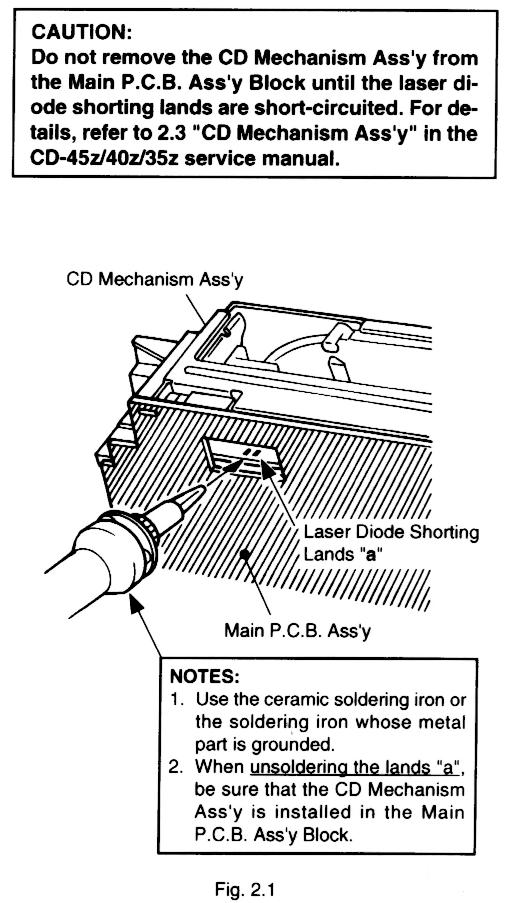 Nakamichi CD-35z/40z/45z - Przeszczepienie mechanizmu