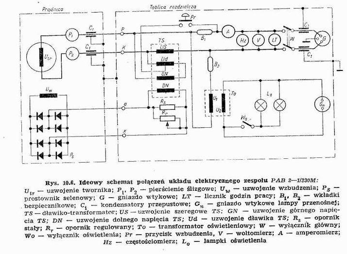 Agregat Pab-2-1/230V, Niepodłączony kabel w gniazdku - biały.