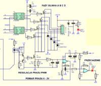 Sterownik unipolarnego silnika krokowego z kontrolą prądu