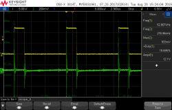 Pomiar prądu oscyloskopem - przetwornica flyback