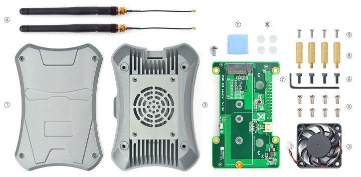 Metalowa obudowa dla NanoPi z miejscem na dysk SSD NVMe