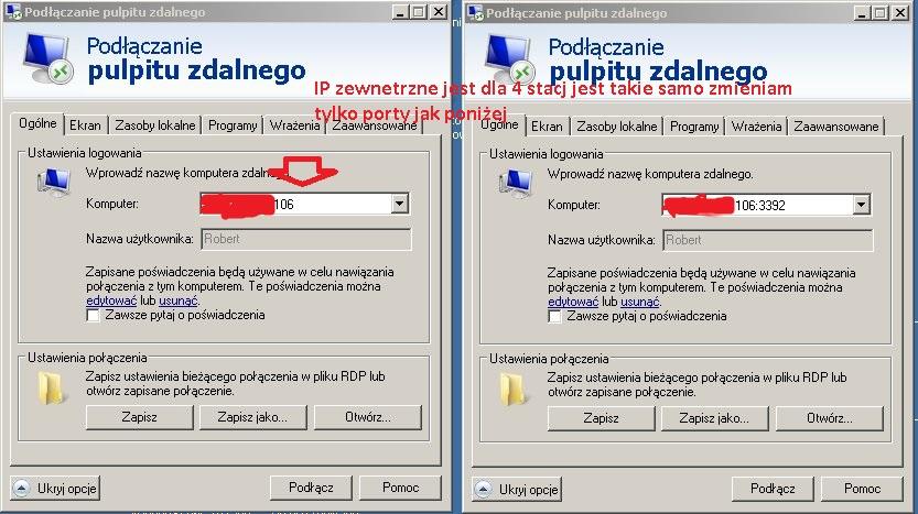Zdalny Pulpit win7 - Jak po��czy� si� z kilkoma serwerami.