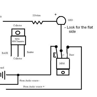 Mrugaj�ca dioda w rytm muzyki - dziwne zachowanie diody po pod��czeniu