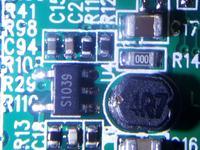 kamerka GS9000 spalony element smd S1039