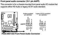 Asus P5GC-MX/1333 - jak pod��czy� pinami panel przedni audio i usb ?