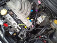 Astra F 1.6 16V X16XEL - Podłączenie przewodów podciśnienia