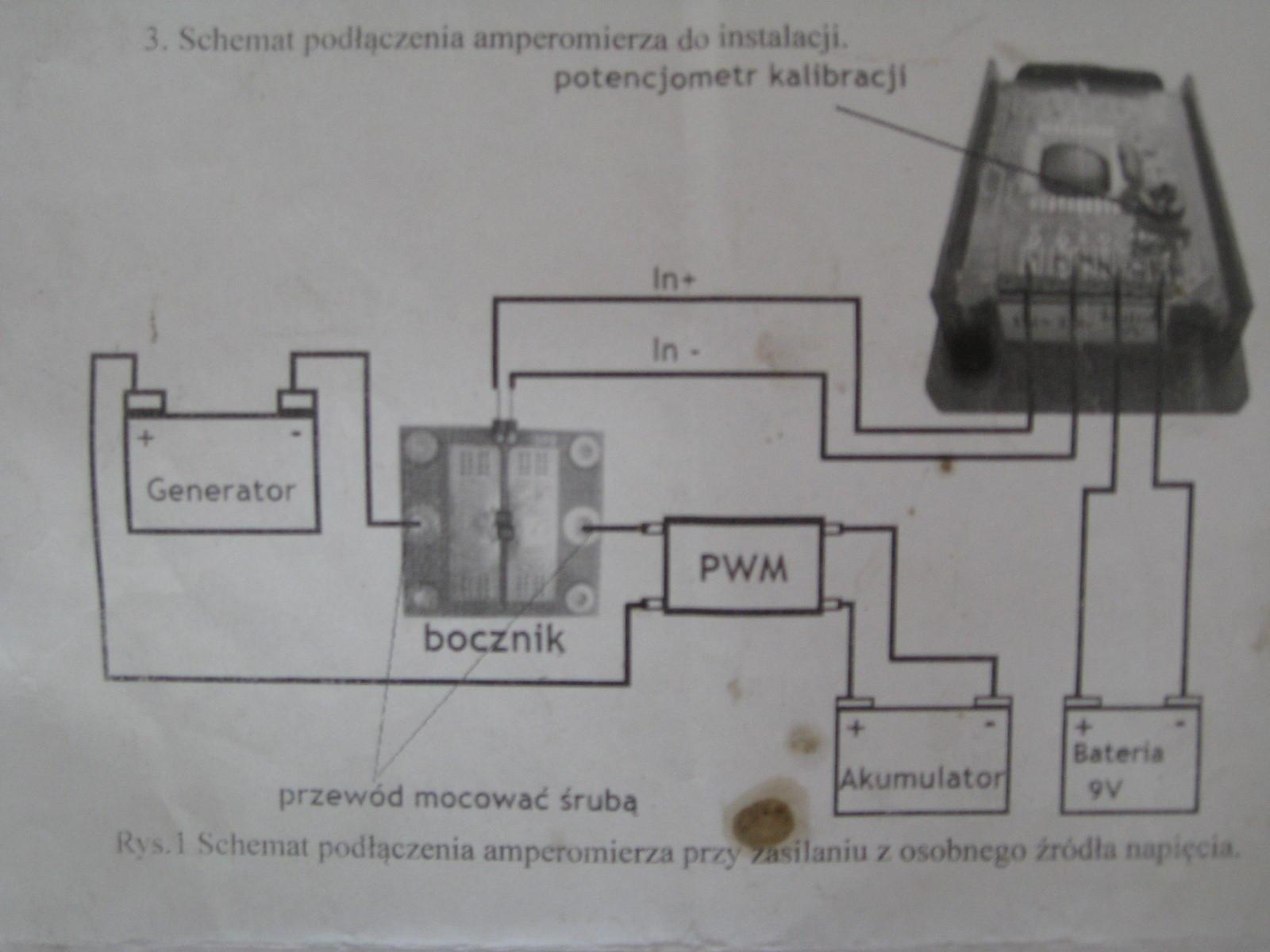 Amperomierz z bocznikiem PMLCDL 438 komplikacja z pod��czeniem
