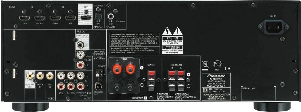 pioneer vsx422, BDP150 - koonfiguracja kina domowego z telewizorem