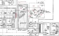 Przedwzmacniacz BASF D-6510 - Układ załączający przekaźnik wyjścia sygnału