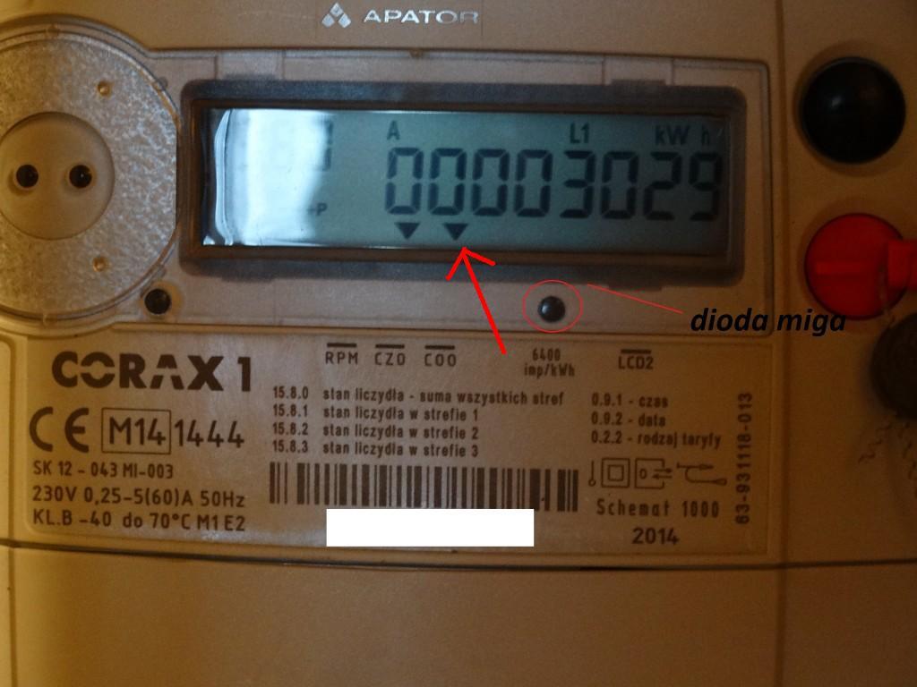 Ogromny Corax1 - Licznik energii elektrycznej błąd COO - elektroda.pl OA58