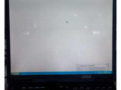 Białe plamy na matrycy IBM'a T20...