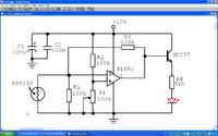 Sterowanie jasnościę LED z wykorzystaniem TL 081.