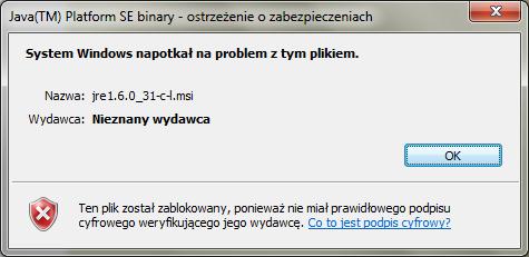 Java - nie dzia�a aktualizacja