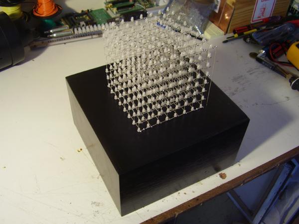 Kostka 8x8x8 LED Cube na STP16CP