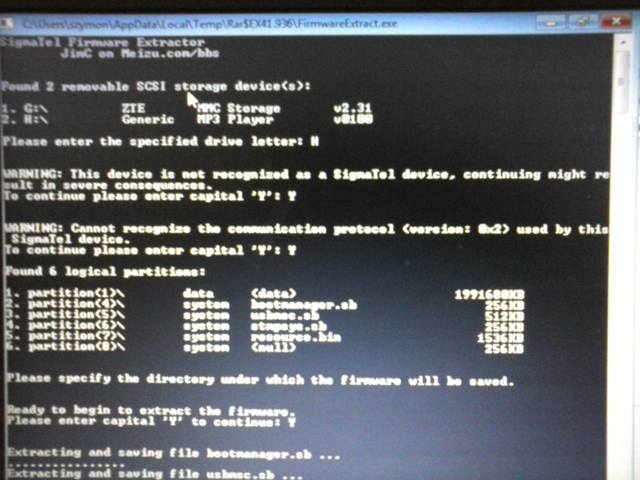 Wielka baza firmware do odtwarzaczy mp3 na ko�ciach Sigmatel