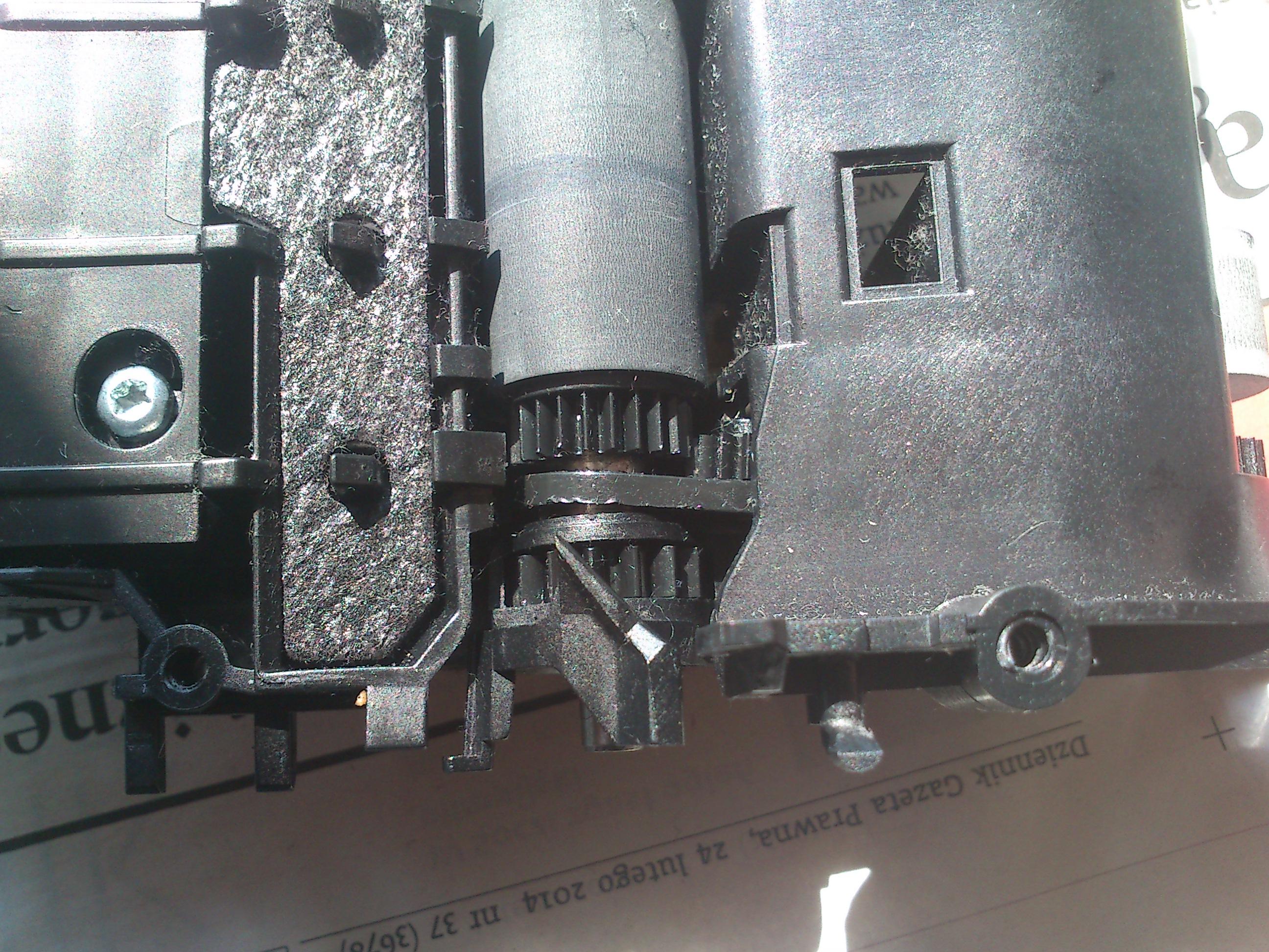 HP C4280 - zablokowana karetka, luzy na z�batkach?