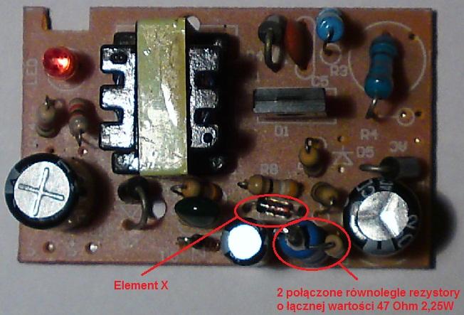 Spalony zasilacz impulsowy 12V - schemat