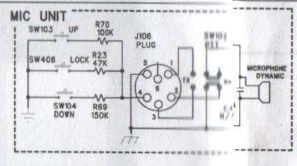 intek m550 power - cb-radio intek m550power podłączenie pinów w mikrofonie