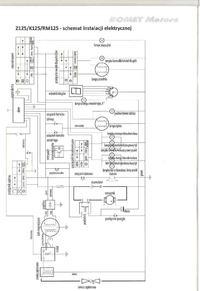 Romet K125 - Schemat instalacji elektrycznej do motocykla