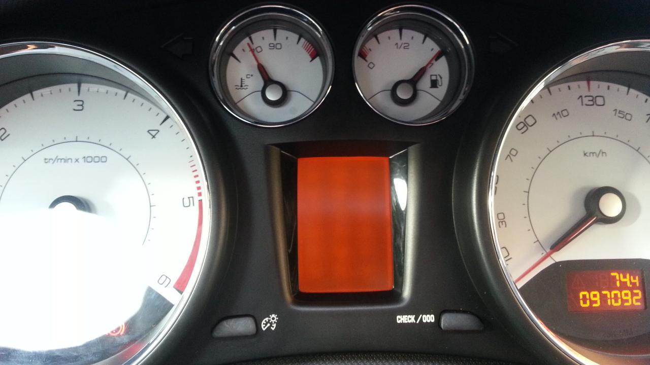 Zalany wyswietlacz Peugeot 308