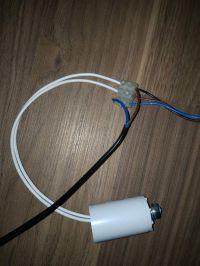 Podłączenie dmuchawy z kondensatorem