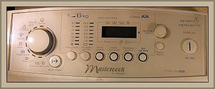 Pralka Mastercook PTDE-104 Eco-Nie podświetla wyświetlacza