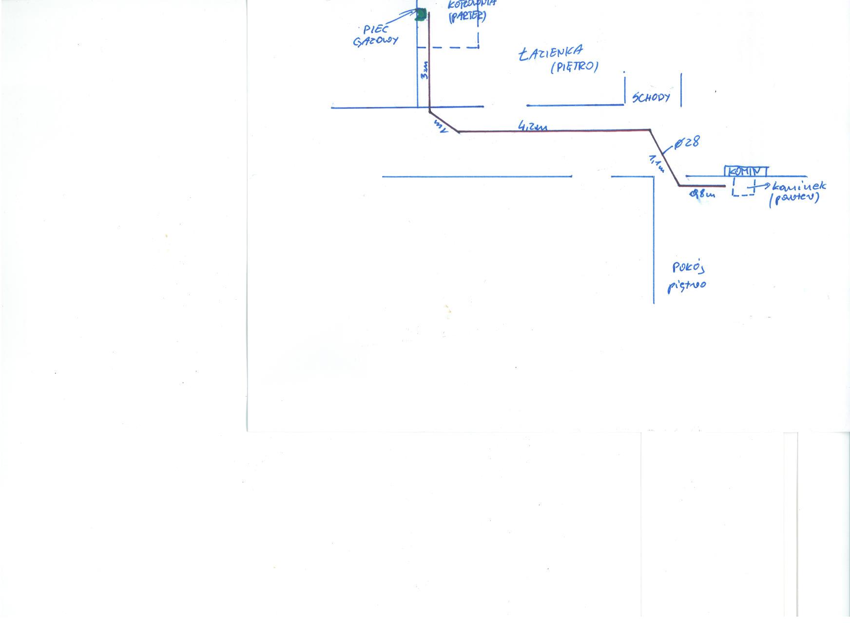 Kominek - Pod��czenie kominka z p�aszczem wodnym z kot�owni� gazow� w inny spos�
