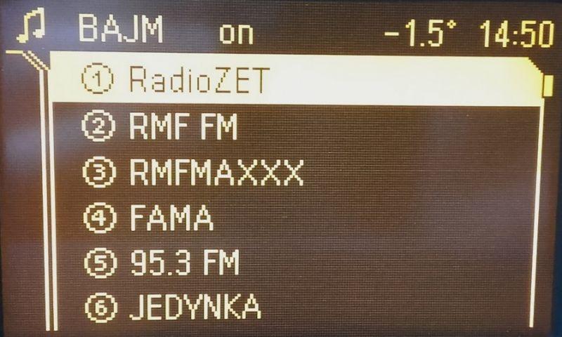 Opel Zafira B, Astra H - CD 70 Navi - RDS - nie odświeża informacji