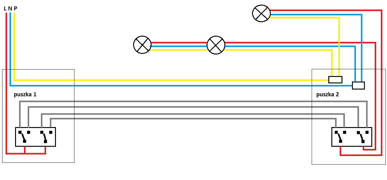 Wyłączniki Schodowe Podwójne Schemat Elektrodapl