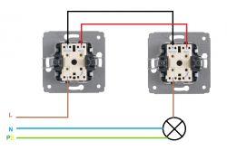Podłączenie włącznika krzyżowego do instalacji schodowej