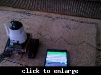 Mini robot arduino + control by tablet / android phone