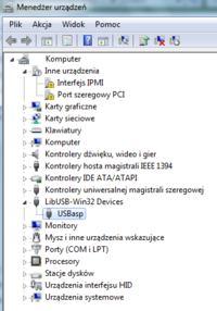 Programator USB AVR -nie wykryty