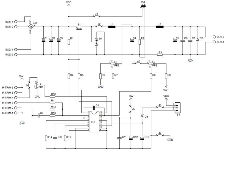 Impulsowy zasilacz warsztatow 0-24V/4A