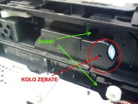 Drukarka Brother HL-5250DN uszkodzone koło zębate nie pobiera papieru z szuflady