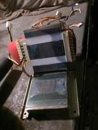 Denon AVR-1611 transformator i płyta wzmacniacza