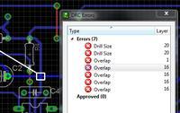 Sprawdzenie płytki PCB iluminacji - EAGLE.