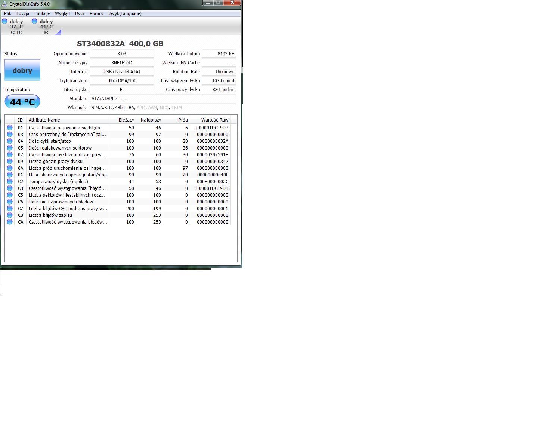 Packard Bell Store&Save H2D2U2 - Nie widzi zawarto�ci dysku