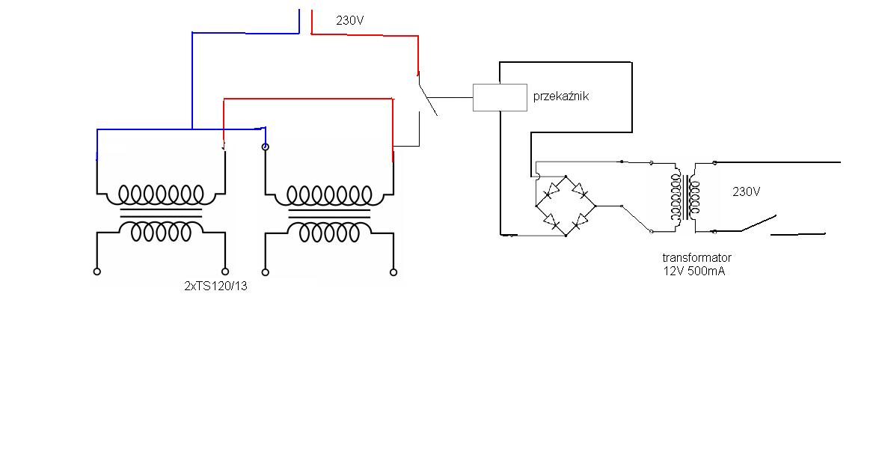 Dob�r przeka�nika do za��czania transformator�w TS 120/13