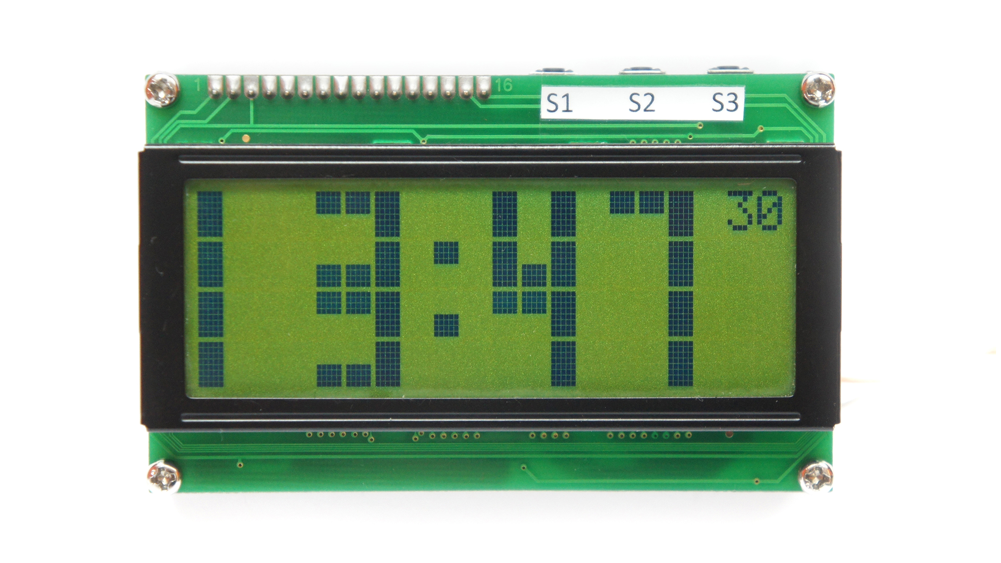 Zegar z termometrem: LCD 20x4, ATmega16, DS18B20, PCF8583P