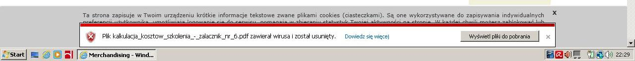 """""""Plik zawiera� wirusa i zosta� usuni�ty"""" - nie mo�na pobiera� plik�w"""