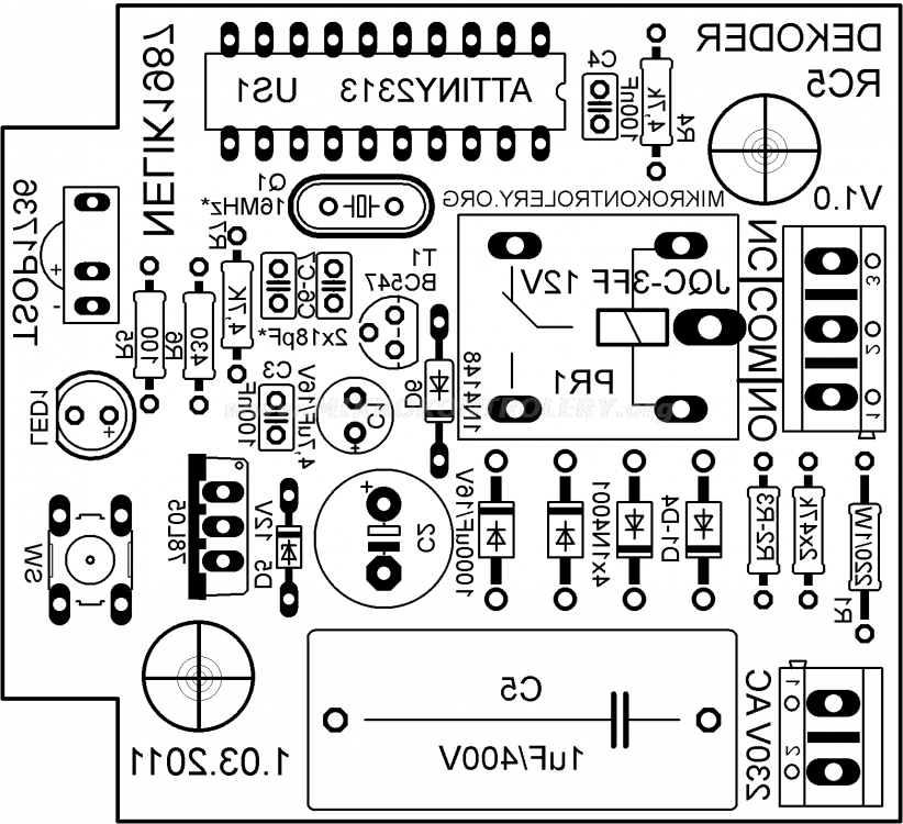 remote control rc5 for infrared steering
