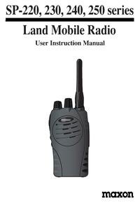 Midland SP220-250 VHF-UHF Porto Manual EN