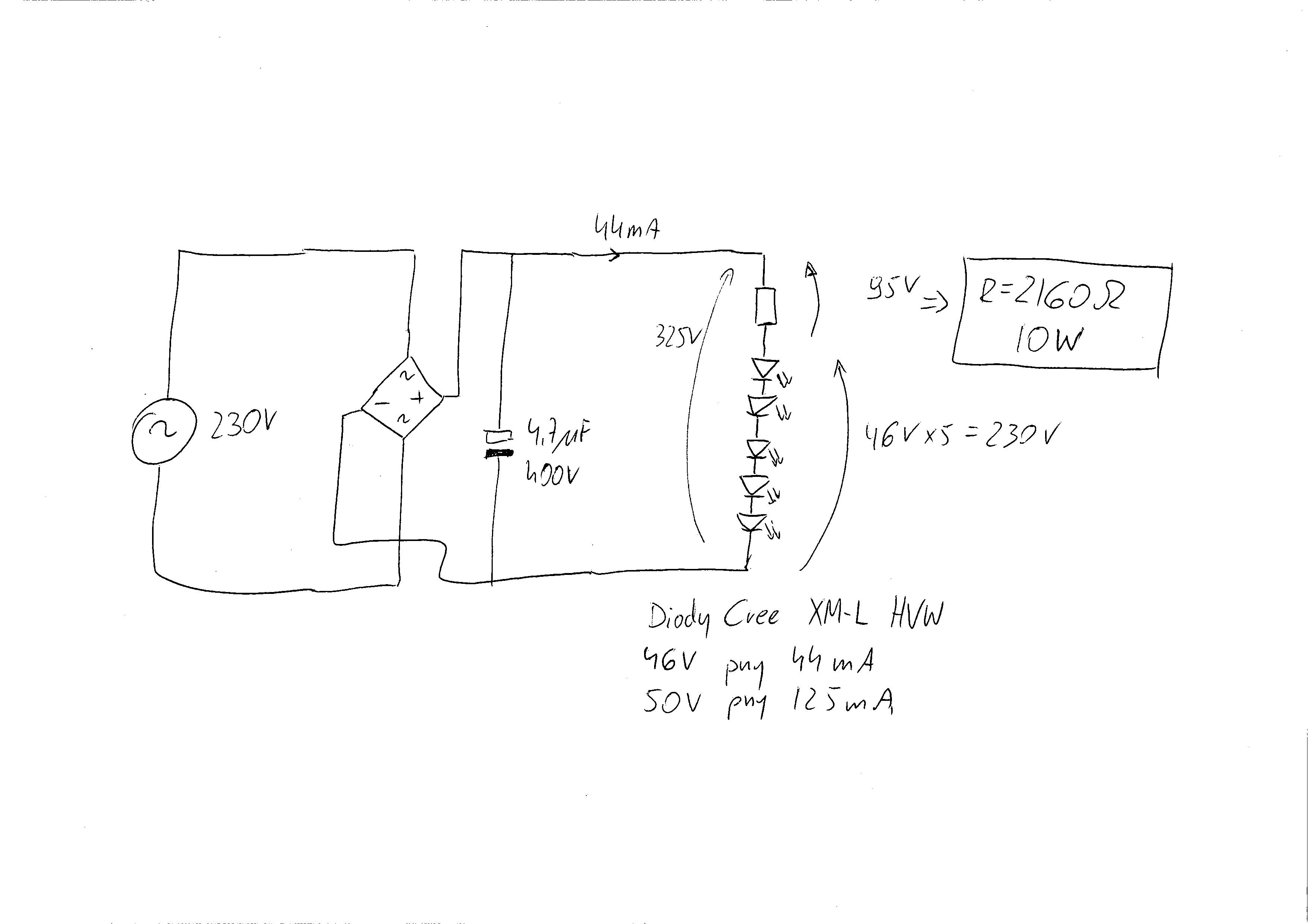 Pod��czenie diod Cree XM-L HVW