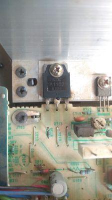 Marantz SR-50L - Amplituner Marantz SR-50L Nie działa spalony tranzystor
